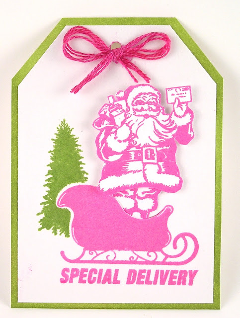 Darkroom Door Rubber Stamps Merry Mail Tag