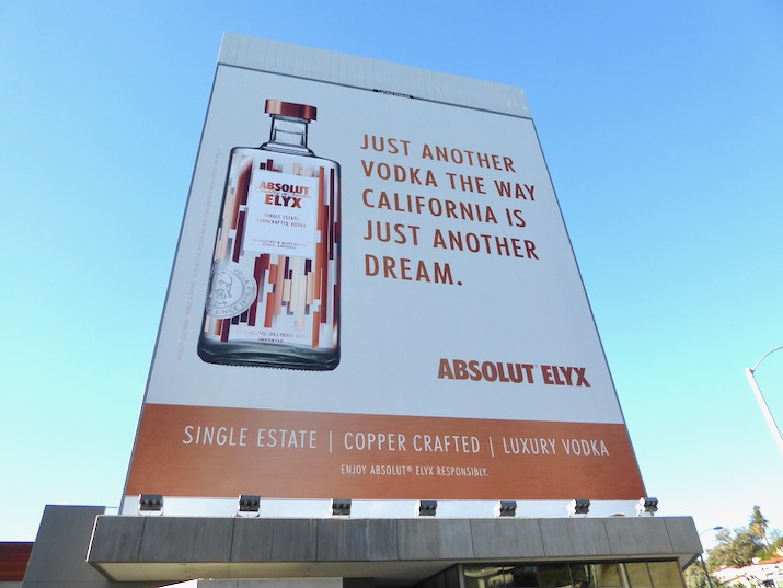 California just another dream Absolut Elyx billboard