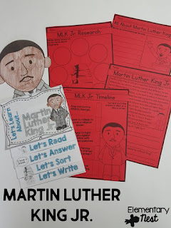 Black History Month Reading Resources- Martin Luther King reading, online research, childrens books, biographies, and more to help teach Black History Month