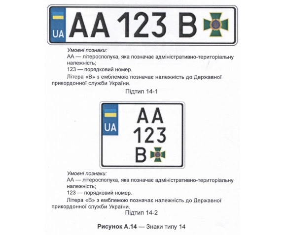 нові номерні знаки ДПСУ