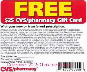 free Cvs Pharmacy coupons december 2016
