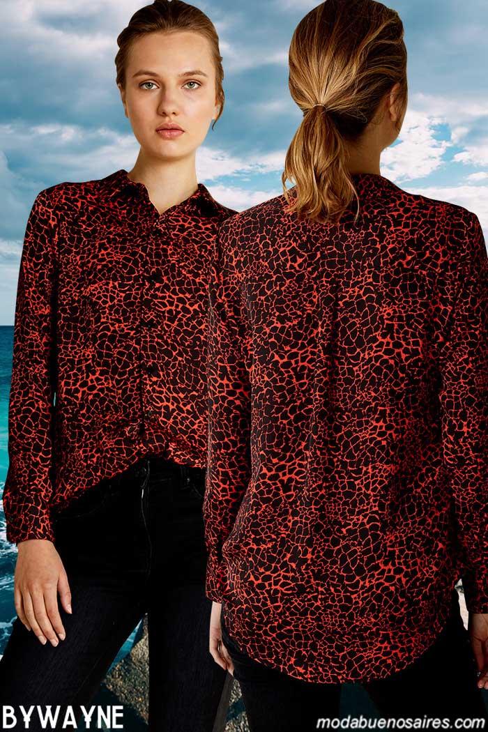 Camisas animal print y pantalones moda primavera verano 2020 ropa de mujer.