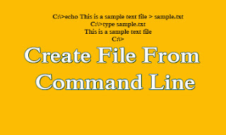 Create File From Command Line