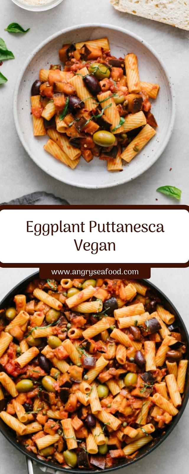 Eggplant Puttanesca Vegan