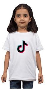 TIKTOK Kids T-Shirt (Boys/Girls) White