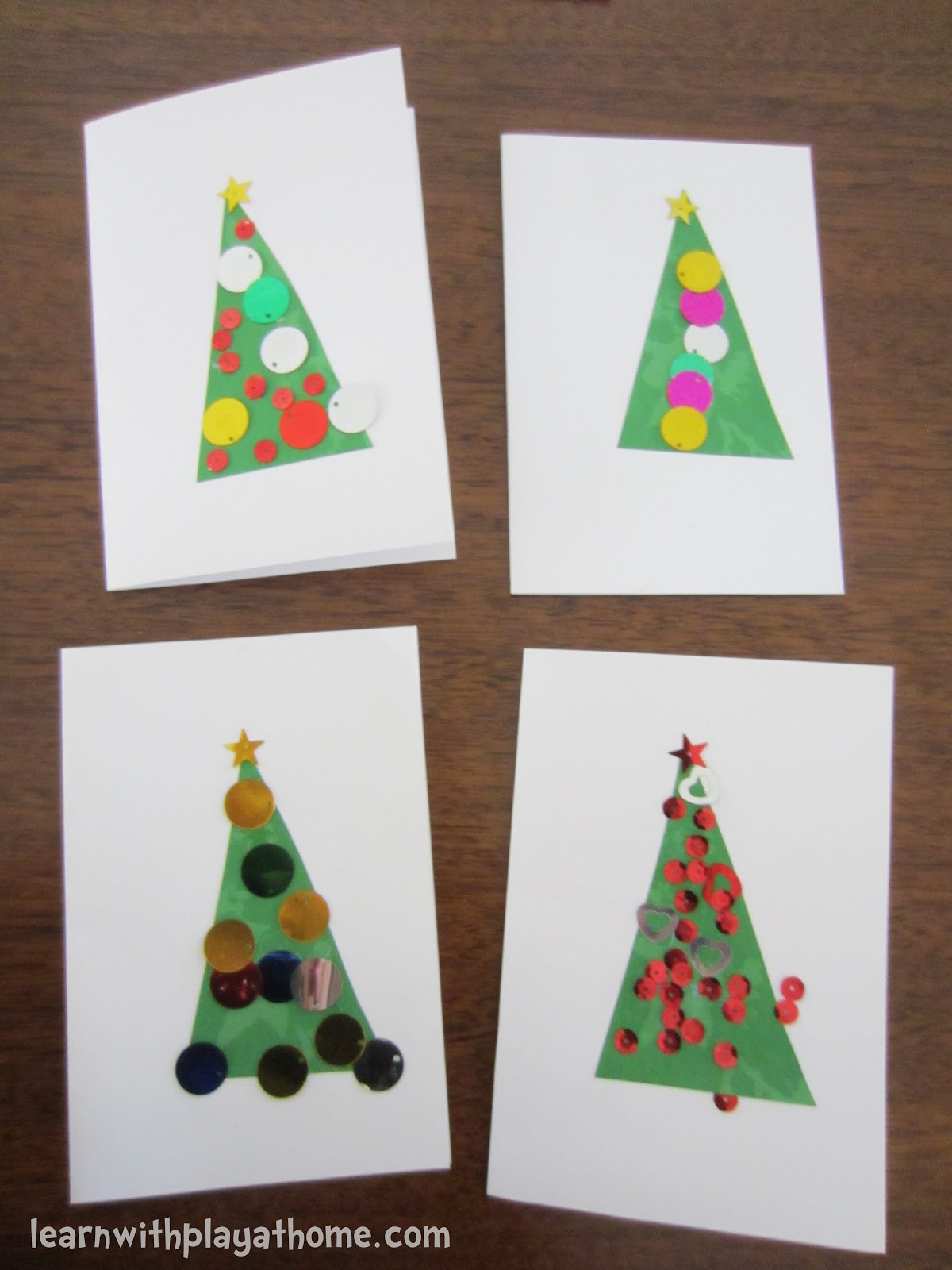 Christmas Card Craft With Childs Photo