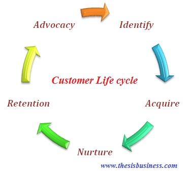 customer life cycle infographics