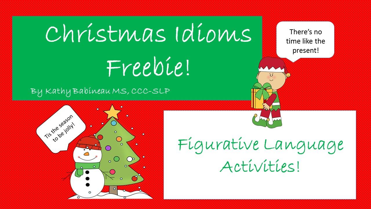 christmas idioms freebie - Christmas Idioms