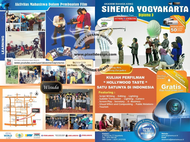 Iklan Brosur Pendidikan Pendaftaran Akademi