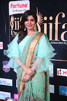 Samantha Ruth Prabhu Smiling Beauty in strange Designer Saree at IIFA Utsavam Awards 2017  Day 2  Exclusive 41.JPG