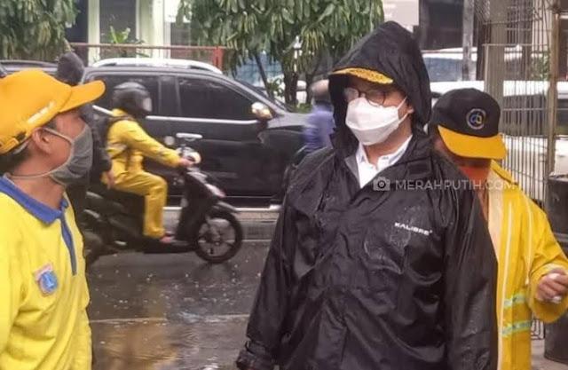 Diguyur Hujan Lebat Jakarta Tidak Banjir, Anies Dipuji Warganet