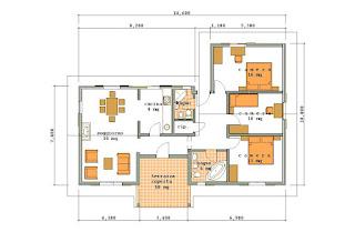 Progetti di case in legno casa 110 mq portico 10 mq for Case in legno 50 mq