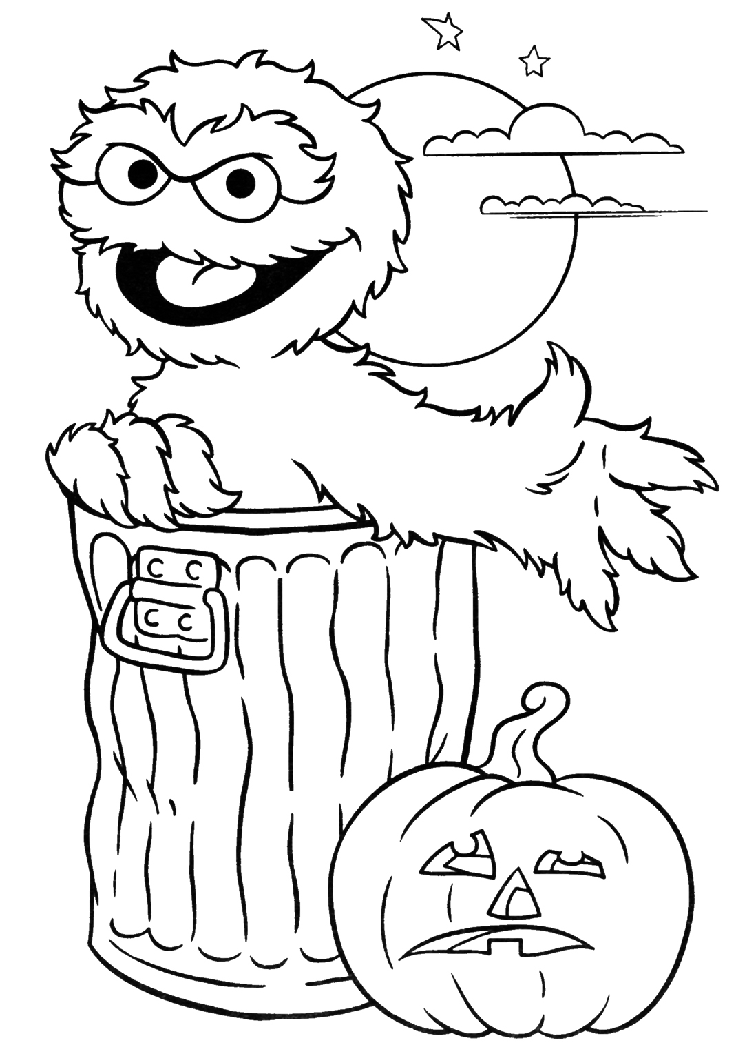 Cartoon Halloween Coloring Pages