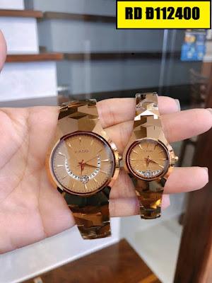 Đồng hồ cặp đôi màu vàng Rado RD Đ112400