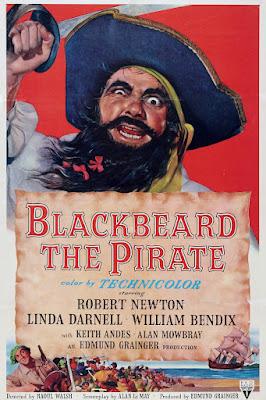 Póster película El pirata Barbanegra - 1952