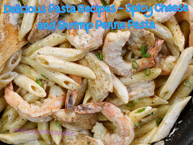 Delicious Pasta Recipes - Spicy Cheese and Shrimp Penne Pasta