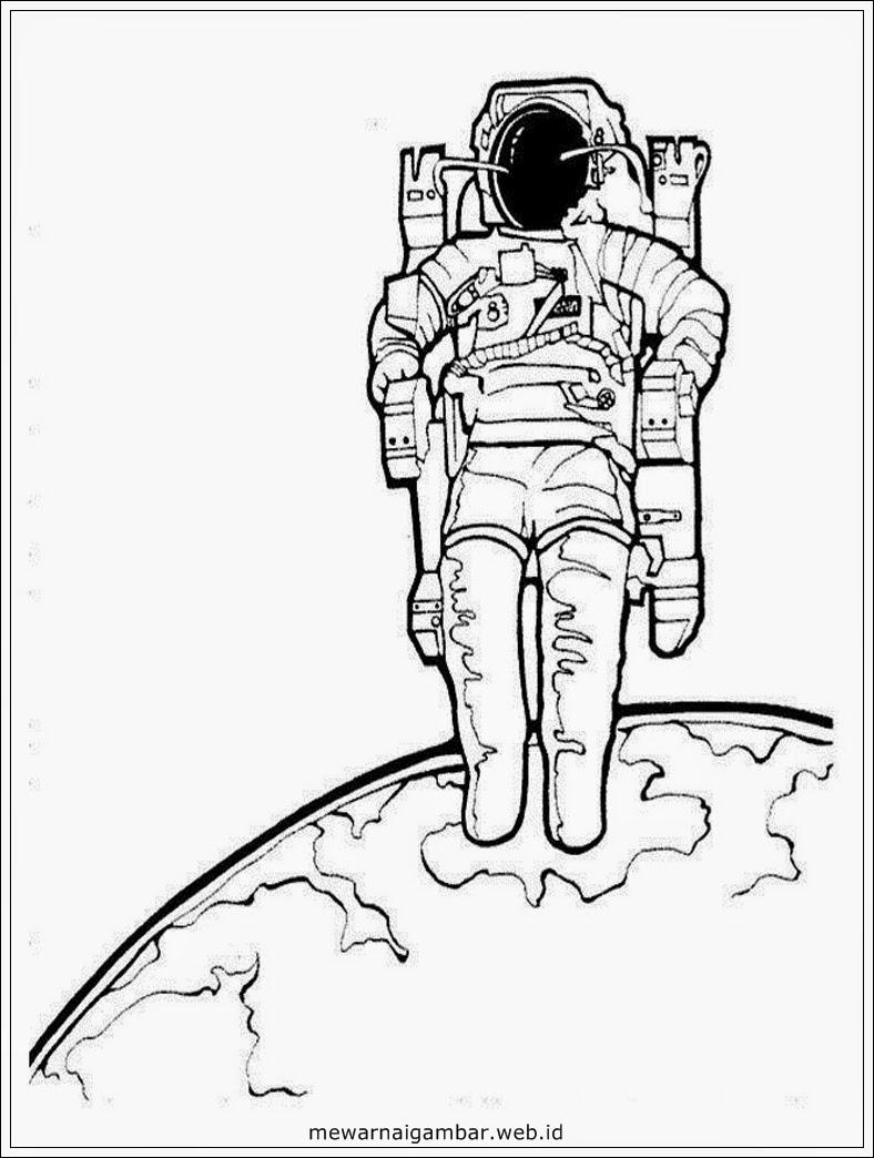 Mewarnai Gambar Astronot  Mewarnai Gambar