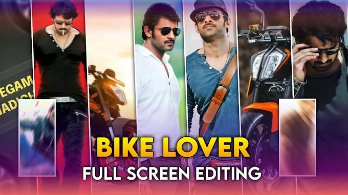 Bike lover full screen status video making alight motion