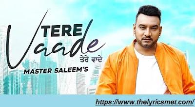 Tere Vaade Song Lyrics | Master Saleem | Latest Punjabi Songs 2020 | Speed Records