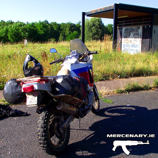 Mercenary Garage Africa Twin - The Trip Home