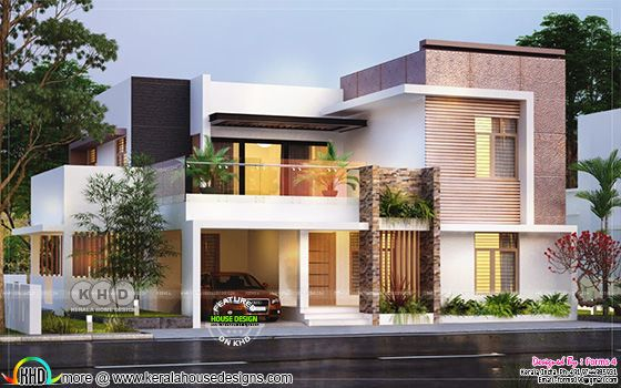 Box type 4 Bedroom house with cost of ₹30 lakhs - Kerala ...