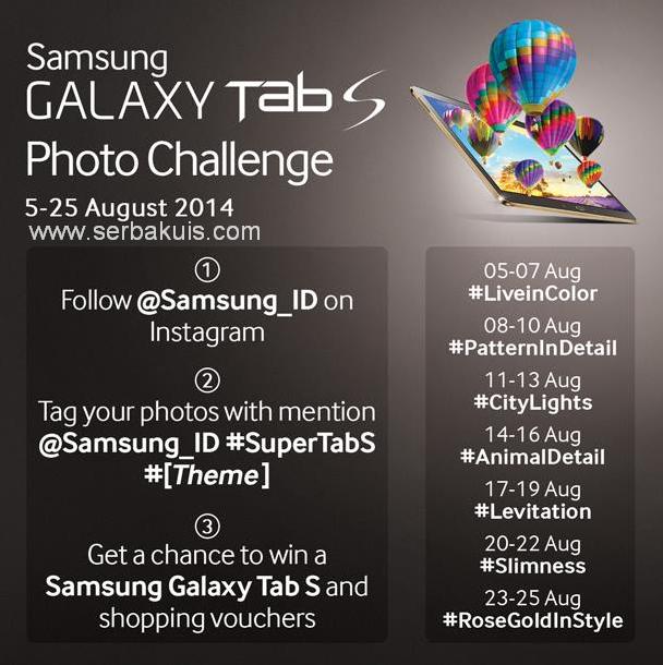 Kontes Foto Instagram Berhadiah SAMSUNG Galaxy Tab S