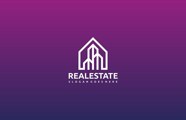 3 Tower - Real Estate Logo Building Design