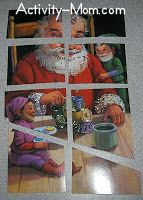 turn greeting cards into puzzles
