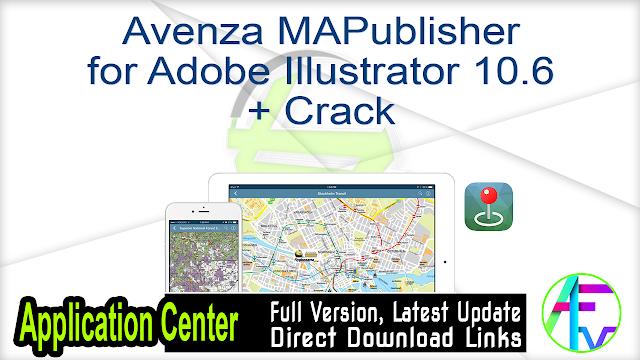 Avenza MAPublisher for Adobe Illustrator 10.6 + Crack