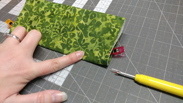 Sewing pleats for homemade face mask