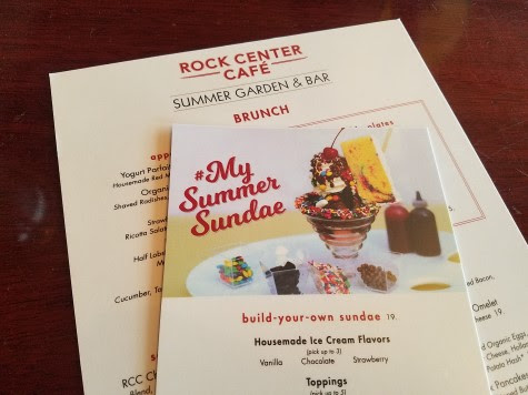 Brunch at Rock Center Café Summer Garden and Bar