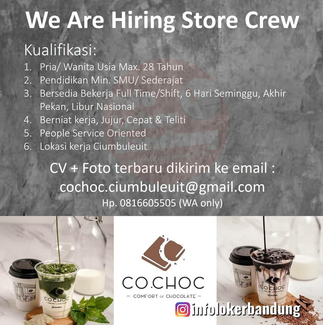Lowongan Kerja Co Choc Ciumbuleuit Bandung November 2019
