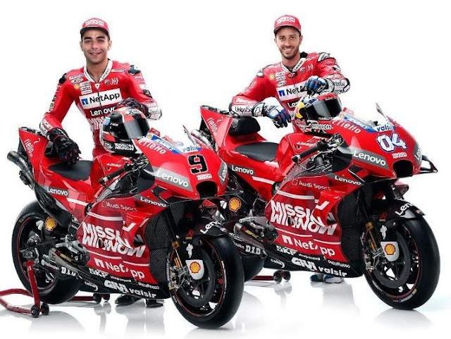 Pembalap Ducati Motogp 2019 Andrea Dovizioso dan Danilo Petrucci
