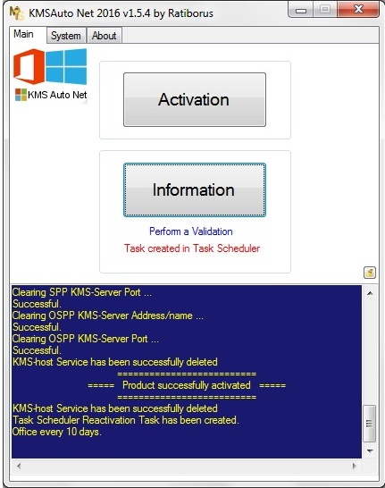 Kmsauto net 2016 - windows 10 and office 2013 activator