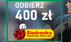 400 zł do Biedronki za kartę BNP Paribas