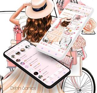 Cycle & Girl Theme For YOWhatsApp & Fouad WhatsApp By Driih Santos