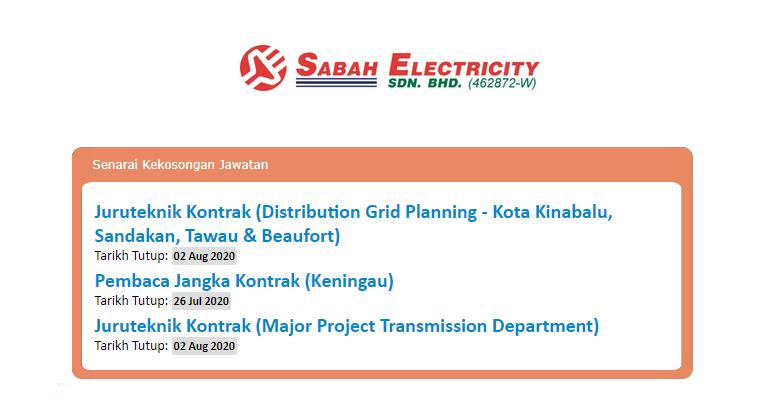 Jawatan Kosong Di Sabah Electricity Sdn Bhd Sesb Jobcari Com Jawatan Kosong Terkini