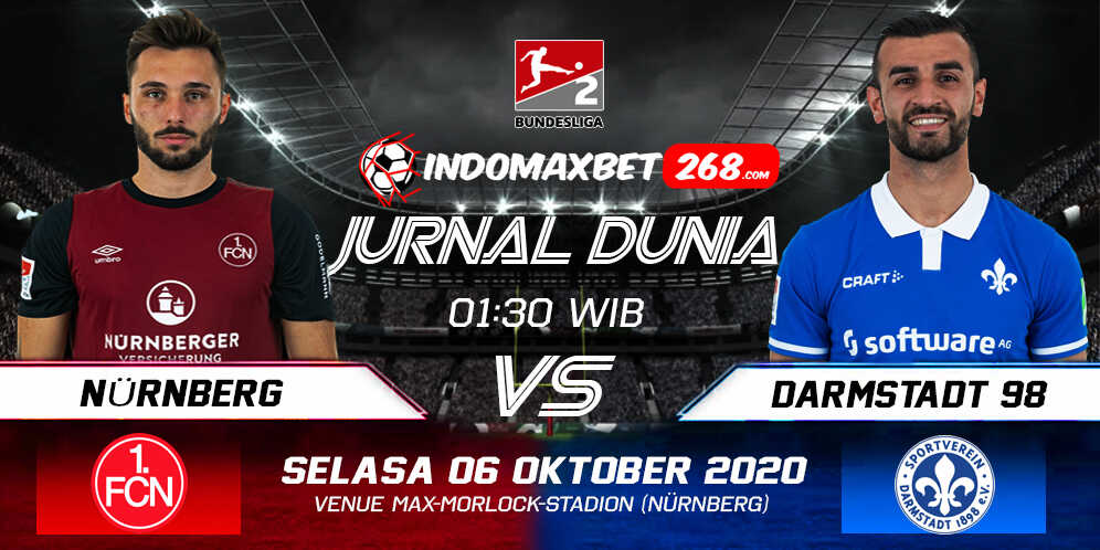 Prediksi FC Nurnberg Vs SV Darmstadt 98 06 Oktober 2020 Pukul 01.30 WIB