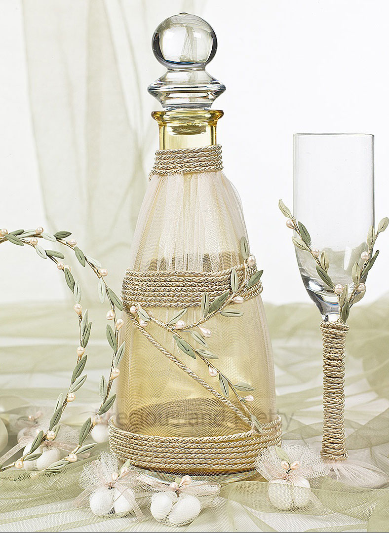 wine glass decanter set for Greek weddings