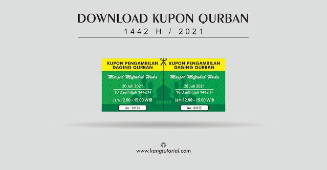 Download Contoh Kupon Qurban 1442 H Format Word dan CDR