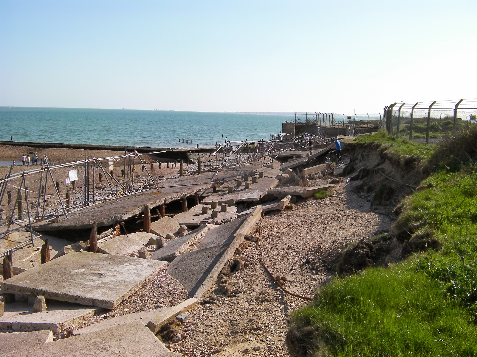 sea walls damaged by winter storms eastney pumping station