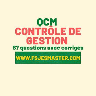 QCM corrigé du Contrôle de Gestion 87 questions