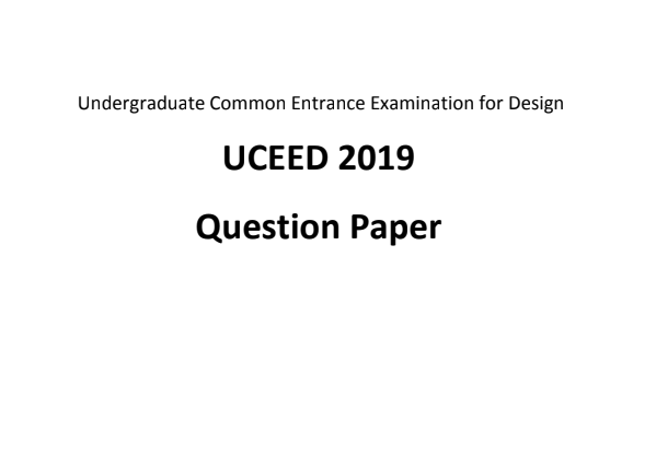 UCEED Previous Year Papers in PDF