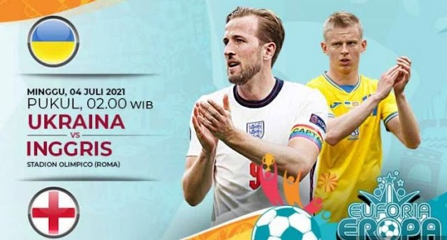 Ini Link Live Streaming Ukraina vs Inggris, Perempat Final Euro 2020
