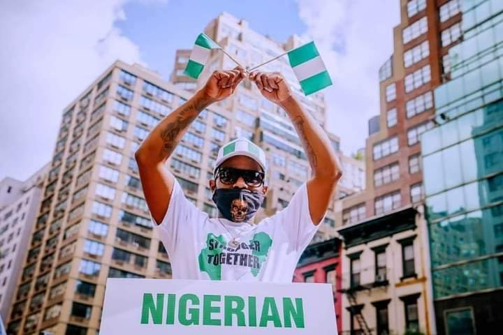 Buhari Supporters Hold Counter Protest In New York - See photos