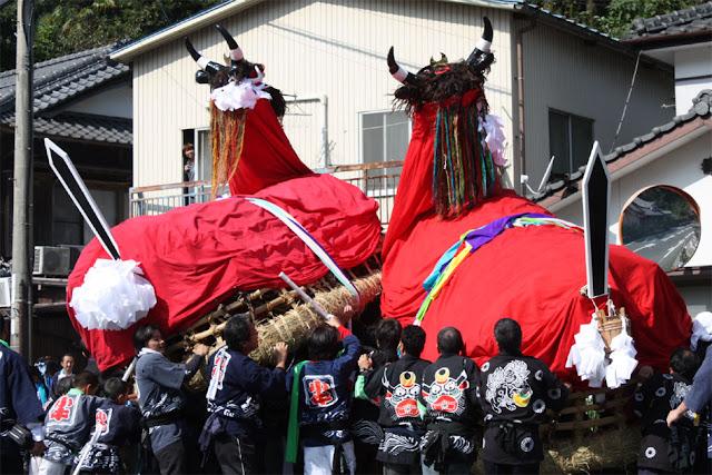 Mikame Autumn Festival, Seiyo City, Ehime Pref.
