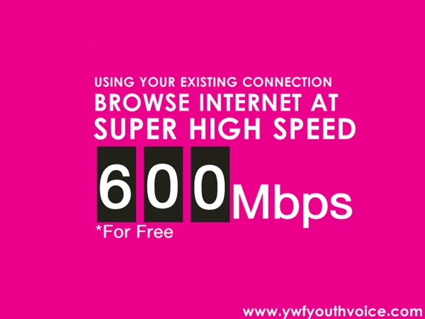 Increase Broadband Speed, 600Mbps High Speed Internet Browsing Videos