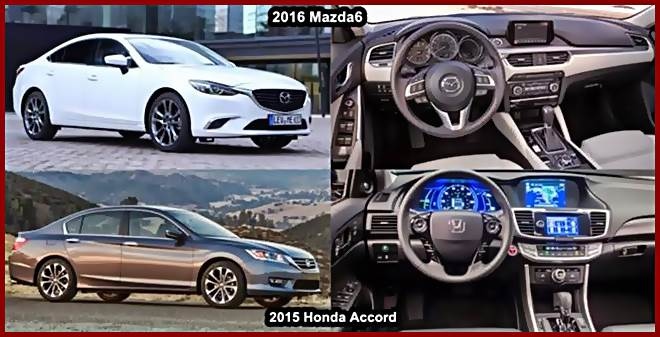 Spesifikasi 2016 Honda Accord VS 2016 Mazda 6