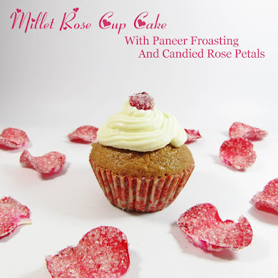 multi grain healthmix rose cup cake