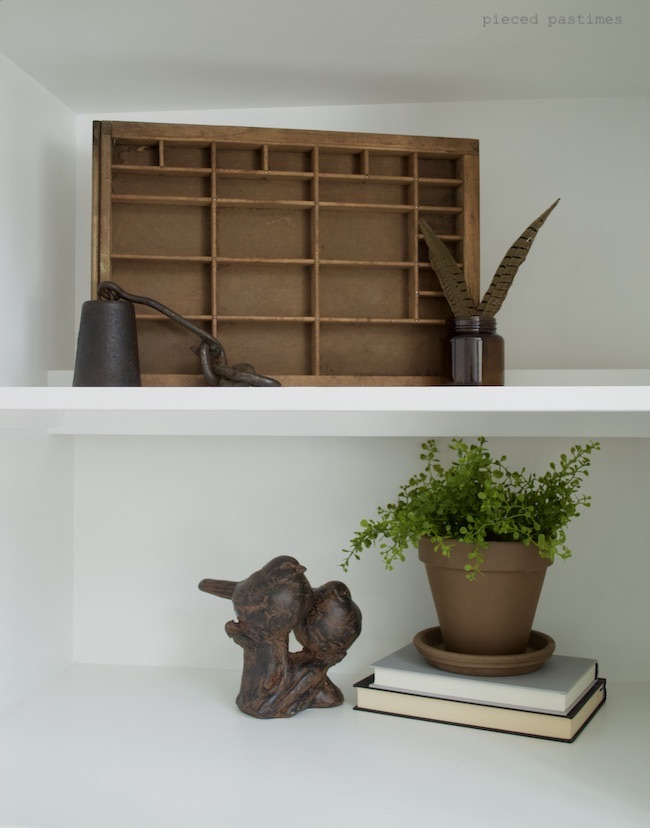 Pieced Pastimes Minimalist Fall Home Shelfie